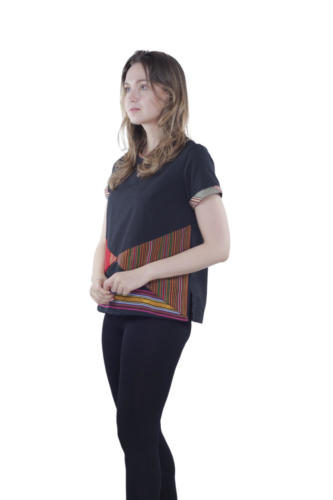 triangle blouse sole oha (black) 2